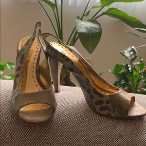 BCBGirls peep toe sling back heels
